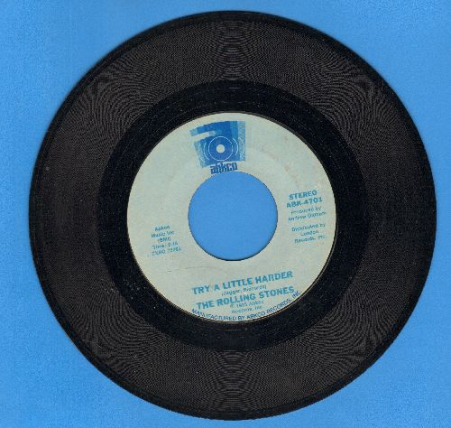 Rolling Stones - Try A Little Harder/I Don't Know Why  - EX8/ - 45 rpm Records