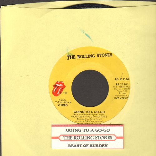 Rolling Stones - Going To A Go-Go/Beast Of Burden (with juke box label) - VG7/ - 45 rpm Records