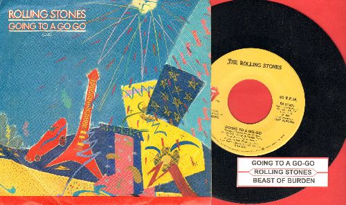 Rolling Stones - Going To A Go-Go/Beast Of Burden (with juke box label and picture sleeve) - EX8/EX8 - 45 rpm Records