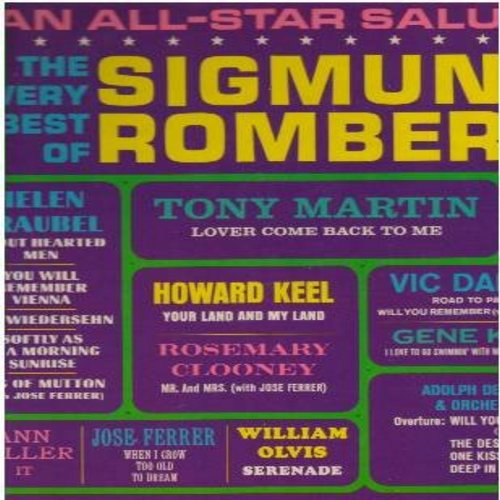 Deutsch, Adolph, Helen Traudbel, Howard Keel, Ann Miller, Jose Ferrer, other - All-Star Salute - The Very Best Of Sigmund Romberg: Auf Wiedersehn, I Love Swimmin' With Wimmen, When I Get Too Old To Dream, Mr. And Mrs. (Vinyl Mono LP records) - NM9/NM9 - L