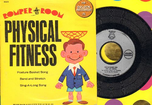 Sandpiper Chorus & Orchestra - Romper Room Physical Fitness: Posture Basket Song/Bend And Stretch/Sing-A-Long Song (vinyl EP record with picture cover) - NM9/NM9 - 45 rpm Records