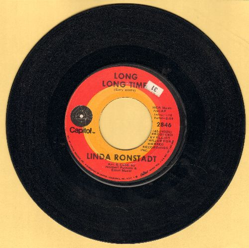 Ronstadt, Linda - Long Long Time/Nobodys  - VG7/ - 45 rpm Records