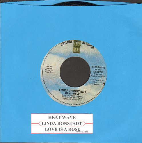 Ronstadt, Linda - Heat Wave/Love Is A Rose (with juke box label) - EX8/ - 45 rpm Records