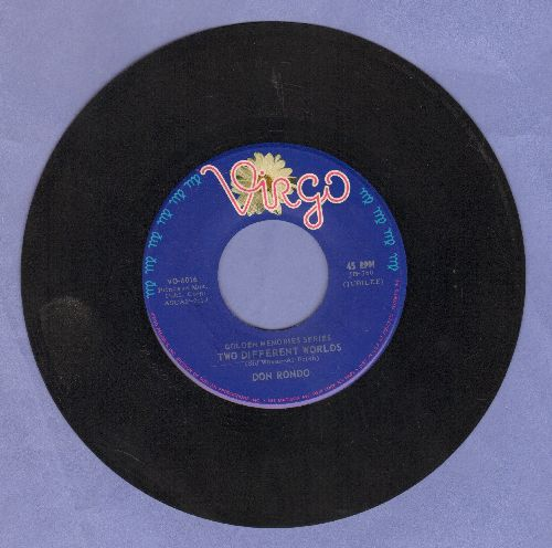 Rondo, Don - Two Different Worlds/White Silver Sands (double-hit re-issue) - EX8/ - 45 rpm Records