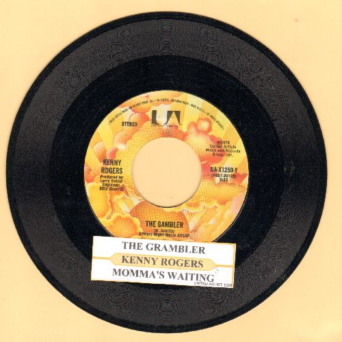 Rogers, Kenny - The Gambler/Momma's Waiting (with juke box label) - NM9/ - 45 rpm Records
