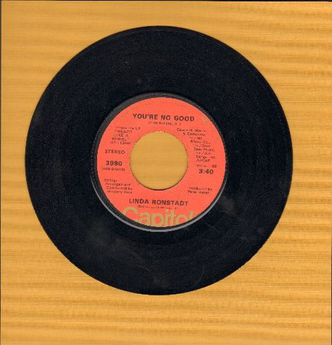 Ronstadt, Linda - You're No Good/I Can't Help It (If I'm Still In Love With You) - VG7/ - 45 rpm Records