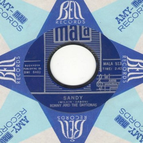 Ronny & The Daytonas - Sandy/Sandy (Instrumental) (with Mala company sleeve) - EX8/ - 45 rpm Records