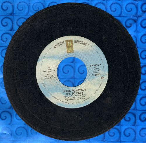 Ronstadt, Linda - It's So Easy/Lo Siento Mi Vida - VG7/ - 45 rpm Records