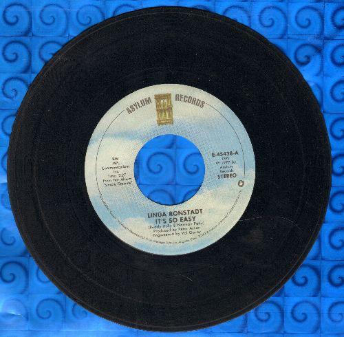 Ronstadt, Linda - It's So Easy/Lo Siento Mi Vida - VG7/ - 45 rpm Records