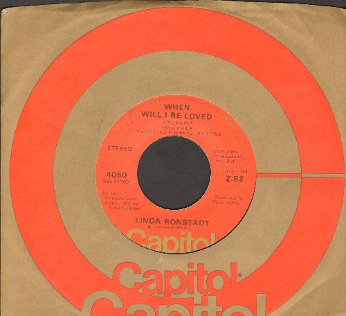 Ronstadt, Linda - When Will I Be Loved/It Doesn't Matter Anymore - EX8/ - 45 rpm Records