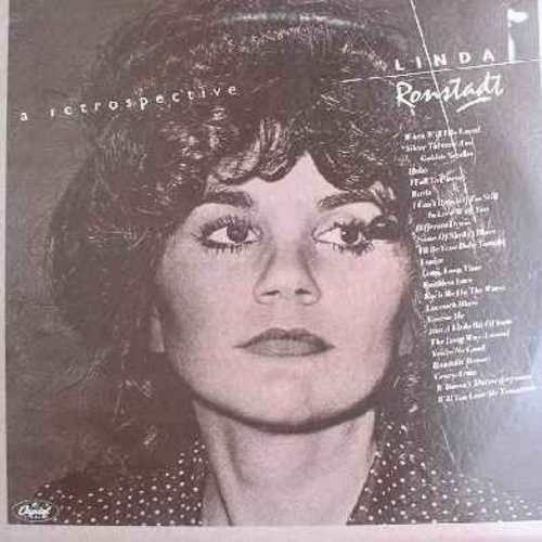 Ronstadt, Linda - A Retrospective: Different Drum, When Will I Be Loved, Long Long Time, Rescue Me, You're No Good, It Doesn't Matter Anymore, Will You Love Me Tomorrow (Set of 2 Vinyl LP records - Counts as 2 LPs when calculating shipping) - NM9/EX8 - LP