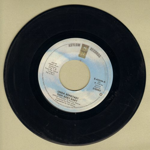 Ronstadt, Linda - Ooh Baby Baby/Blowing Away  - VG7/ - 45 rpm Records