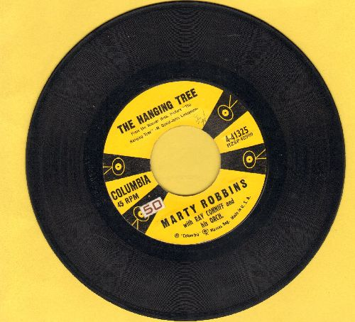Robbins, Marty - The Hanging Tree (Love Theme from film -The Hanging Tree-)/The Blues Country Style  - EX8/ - 45 rpm Records