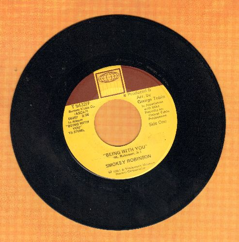 Robinson, Smokey - Being With You (SLOW-DANCE FAVORITE!)/What's In Your Life For Me  - VG7/ - 45 rpm Records
