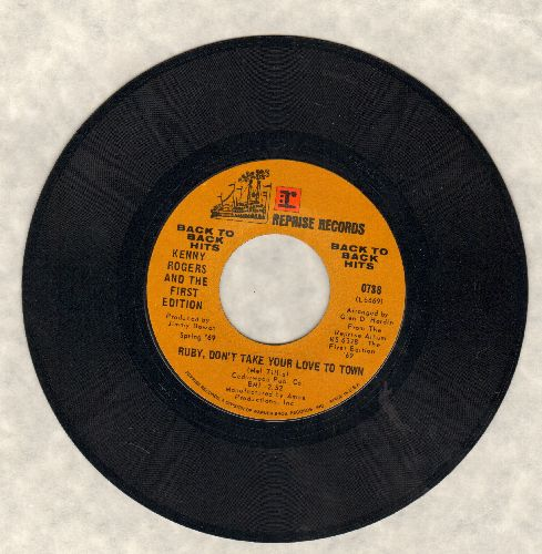 Rogers, Kenny & The First Edition - Ruby, Don't Take Your Love To Town/Ruben James (early double-hit re-issue) - EX8/ - 45 rpm Records