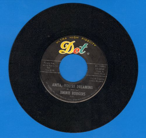 Rodgers, Jimmie - Anita, You're Dreaming/It's Over - EX8/ - 45 rpm Records
