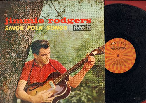 Rodgers, Jimmie - Jimmie Rodgers Sings Folk Songs: Waltzing Matilda, Liza, Black Is The Color, Bo Diddley, Riddle Song (vinyl MONO LP record) - VG7/VG6 - LP Records