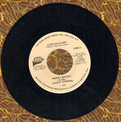 Rooney, Mickey & The Talent Towners - Companionship/Grandparents (RARE DJ advance pressing) - NM9/ - 45 rpm Records