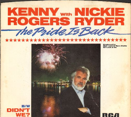 Rogers, Kenny & Nickie Ryder - The Pride Is Back/Didn't We? (with picture sleeve) - NM9/EX8 - 45 rpm Records