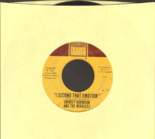 Robinson, Smokey & The Miracles - I Second That Emotion/You Must Be Love - VG7/ - 45 rpm Records