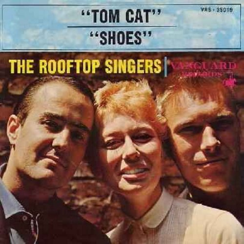 Rooftop Singers - Tom Cat/Shoes (with picture sleeve) - NM9/EX8 - 45 rpm Records