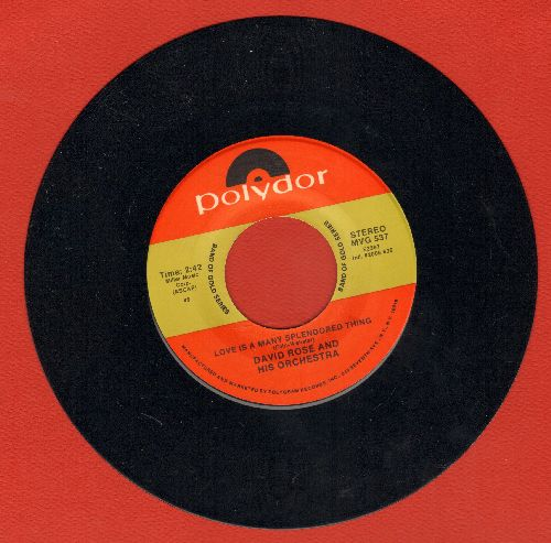 Rose, David & His Orchestra - The Stripper/Love Is A Many Splendored Thing (double-hit re-issue) - NM9/ - 45 rpm Records