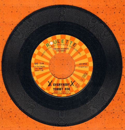 Roe, Tommy - Everybody/Sorry I'm Late, Lisa (ENCHANTING duet with Sandy Posey!) (authentic-lookng re-issue) - NM9/ - 45 rpm Records