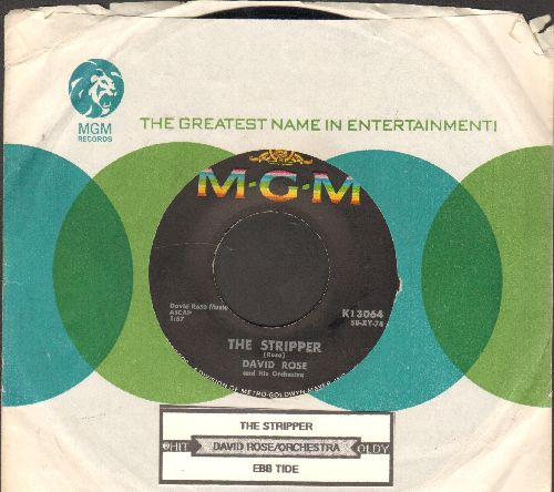 Rose, David & His Orchestra - The Stripper (Favorite at Wedding Receptions' -Garter Belt- Removal)/Ebb Tide (with juke box label and MGM company sleeve) - EX8/ - 45 rpm Records