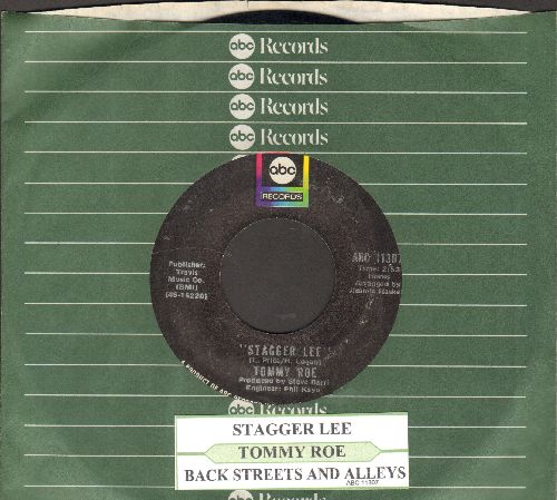 Roe, Tommy - Stagger Lee/Back Streets And Alleys (with juke box label and ABC company sleeve) - NM9/ - 45 rpm Records