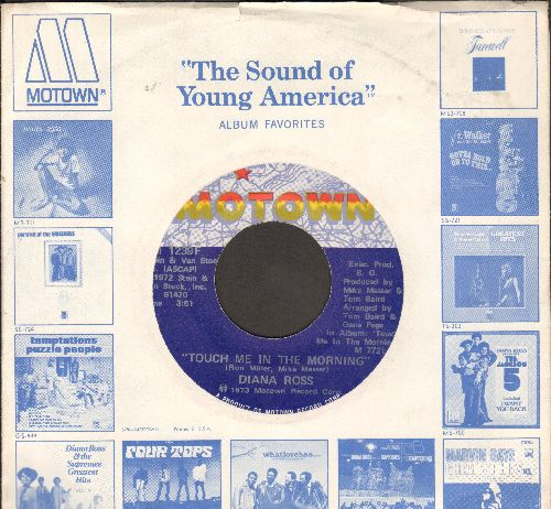 Ross, Diana - Touch Me In The Morning/I Won't Last A Day Without You (with Motown company sleeve) - NM9/ - 45 rpm Records