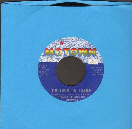 Supremes - I'm Living In Shame/I'm So Glad I Got Somebody  - NM9/ - 45 rpm Records