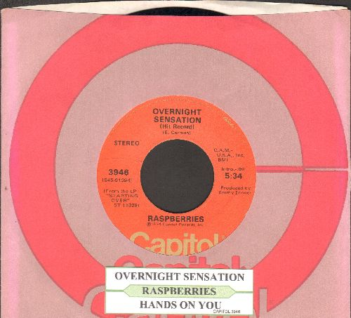 Raspberries - Overnight Sensation/Hands On You (with juke box label and Capitol company sleeve) - EX8/ - 45 rpm Records