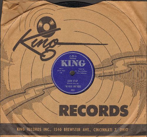Rock Brothers - Livin' It Up/Dungaree Doll (10 inch 78 rpm record with RARE vintage King company sleeve) - EX8/ - 78 rpm