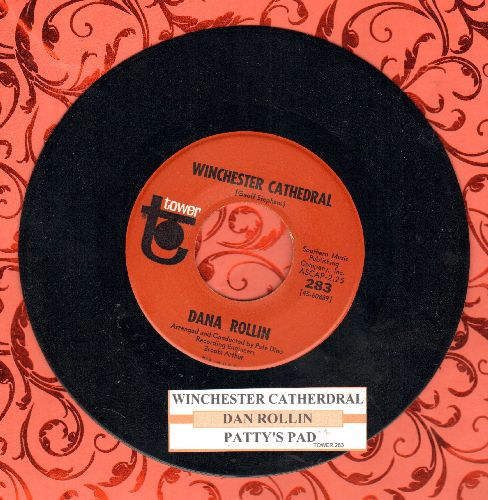 Rollin, Dana - Winchester Cathedral/Patty's Pad (FANTASTIC Bubblegum Novelty 2-sider with juke box label) - NM9/ - 45 rpm Records