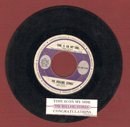 Rolling Stones - Time Is On Our Side/Congratulations (with juke box label) - VG7/ - 45 rpm Records