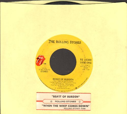 Rolling Stones - Beast Of Burden/When The Whip Comes Down (with juke box label)(with juke box label) - EX8/ - 45 rpm Records