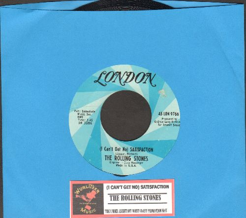 Rolling Stones - I Can't Get No Satisfaction/The Under Assistant West Coast Promotion Man (with juke box label) - EX8/ - 45 rpm Records