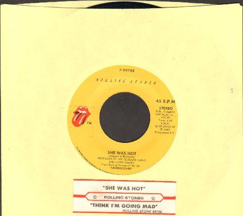 Rolling Stones - She Was Hot/Think I'm Going Mad (with juke box label) - EX8/ - 45 rpm Records