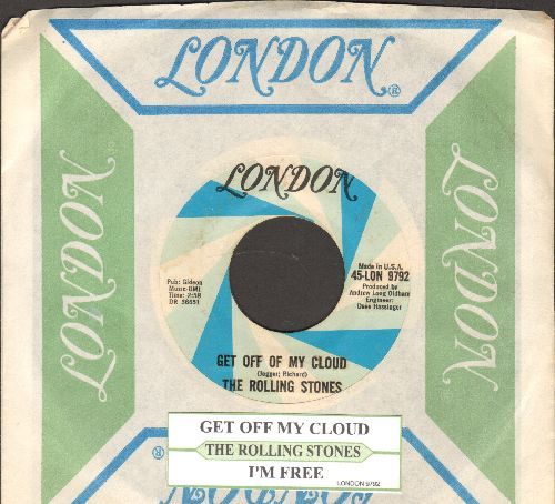 Rolling Stones - Get Off Of My Cloud/I'm Free (with vintage London company sleeve and juke box label) - EX8/ - 45 rpm Records