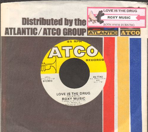 Roxy Music - Both Ends Burning/Love Is The Drug (with juke box label and Atco company sleeve) - NM9/ - 45 rpm Records