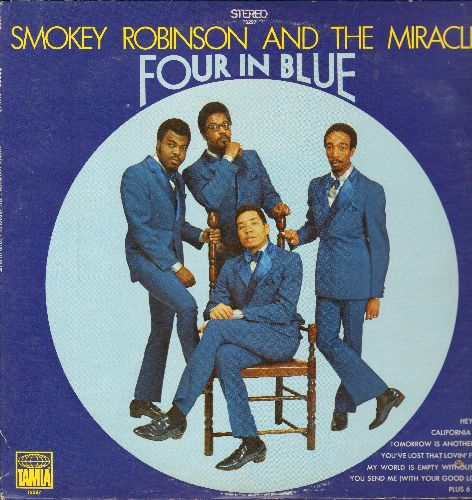 Robinson, Smokey & The Miracles - Four In Blue: Hey Jude, California Soul, You Send Me, My World Is Empty Without You (Vinyl STEREO LP record, small punch hole on lower right cover) - NM9/EX8 - LP Records