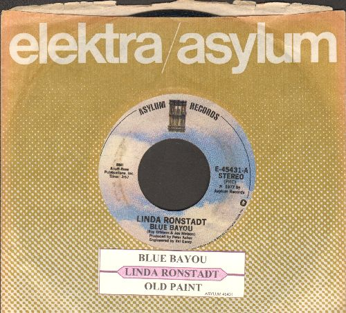 Ronstadt, Linda - Blue Bayou/Old Paint (with juke box label and company sleeve) - NM9/ - 45 rpm Records