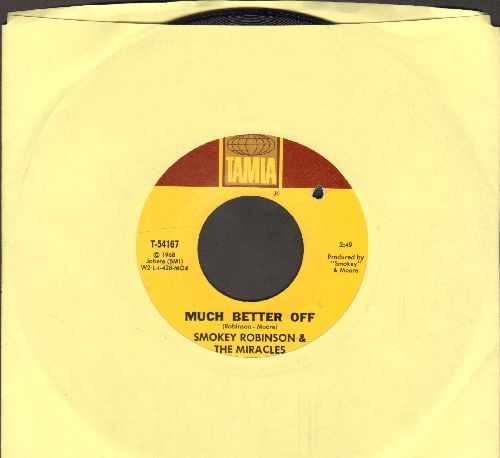 Robinson, Smokey & The Miracles - Much Better Off/Yester Love (bb) - NM9/ - 45 rpm Records