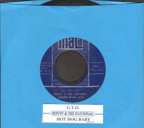 Ronny & The Daytonas - G.T.O./Hot Rod Baby (with juke box label) - EX8/ - 45 rpm Records