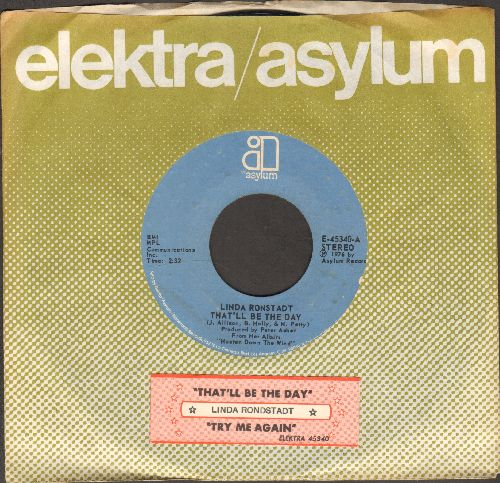Ronstadt, Linda - That'll Be The Day/Try Me Again (with company sleeve and juke box label) - NM9/ - 45 rpm Records