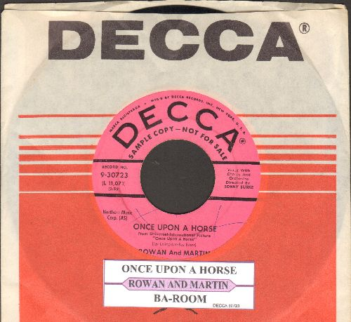 Rowan & Martin - Once Upo A Horse/Ba-Room (DJ advance copy with Decca company sleeve) - EX8/ - 45 rpm Records
