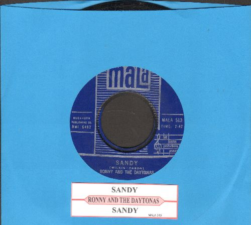 Ronny & The Daytonas - Sandy/Sandy (Instrumental) (with juke box label) - VG7/ - 45 rpm Records