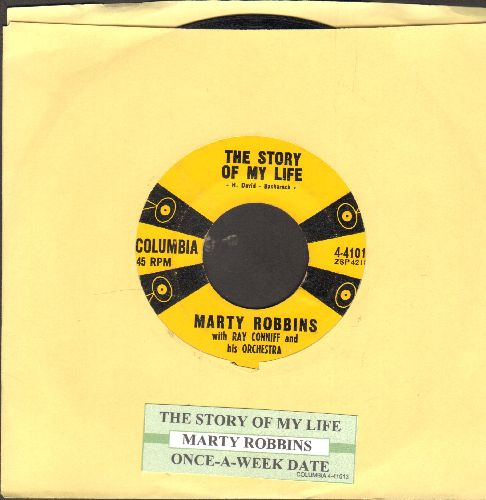 Robbins, Marty - The Story Of My Life/Once-A-Week Date (with juke box label) - VG7/ - 45 rpm Records