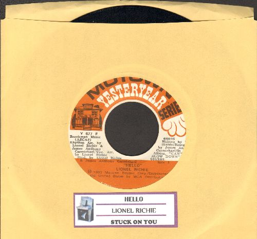 Richie, Lionel - Hello/Stuck On You (double-hit re-issue with juke box label) - NM9/ - 45 rpm Records