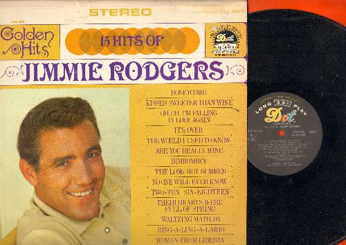 Rodgers, Jimmie - Golden Hits: Honeycomb, Kisses Sweeter Than Wine, Waltzing Matilda, Are You Really Mine, Two-Te Six-Eighteen (Vinyl STEREO LP record) - NM9/EX8 - LP Records